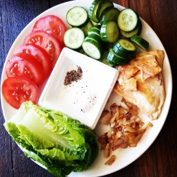 The Easy Meal - Lettuce, Tomato, Cucumber, Chicken