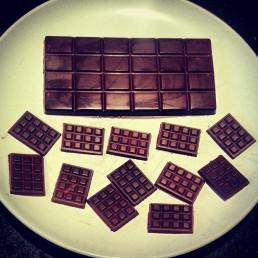 Homemade raw chocolate