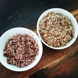 tri coloured quinoa and rice plus