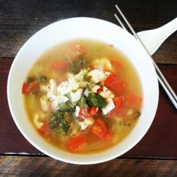 Chicken, Tomato and Bok Choy Soup
