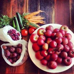Local organic fruit and veg