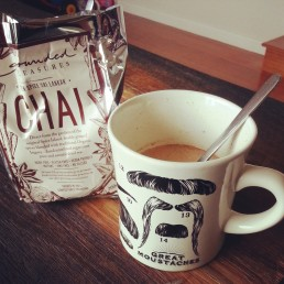 Almond milk and Grounded Pleasures Seven Spiced Sri Lankan Chai