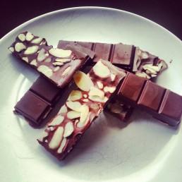 Orange blossom and almond Raw Chocolate